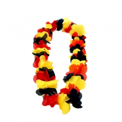 Collier Hawaï tricolore Belgique