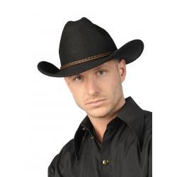 Chapeau cowboy luxe noir
