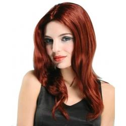Perruque dame longue  rousse