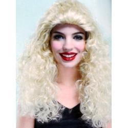 Perruque de dame ondulée blonde