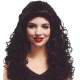 Perruque de dame noire ondulée