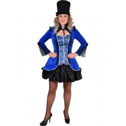 Veste burlesque bleu