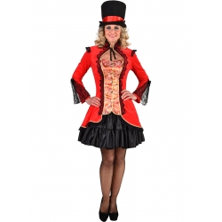 Veste burlesque rouge