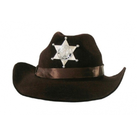 Chapeau cowboy brun