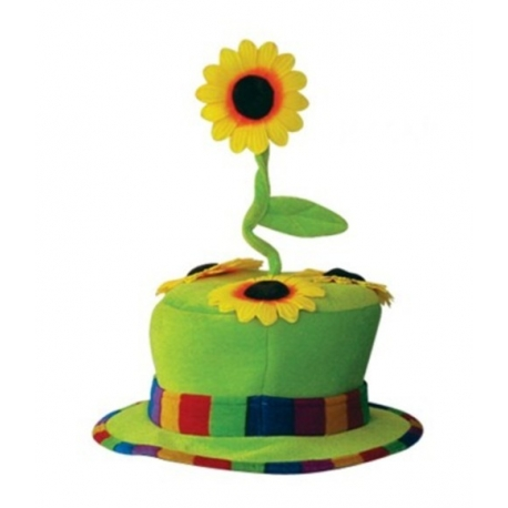 Chapeau clown fleur vert
