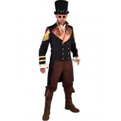 Steampunk homme noir doré