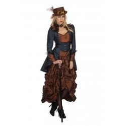 Steampunk femme bleu