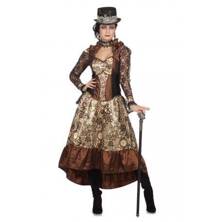 Steampunk femme horloge
