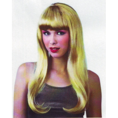 Perruque de dame logue blonde