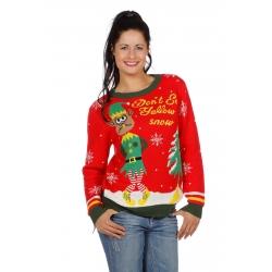 Pull noel rouge elfe