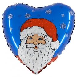 Ballon noel santa coeur