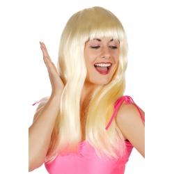 Perruque mi longue blonde