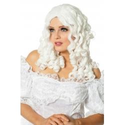 Perruque crollée blanche