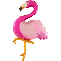 Ballon aluminium flamand rose