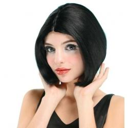 Perruque courte noire