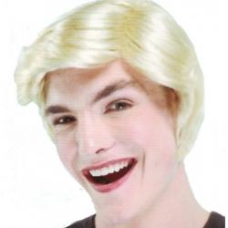 Perruque d'homme blond