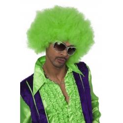 Perruque super afro vert