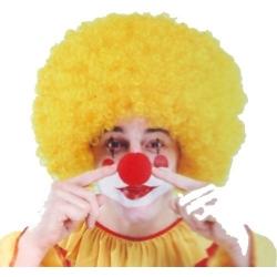 Perruque de clown super afro jaune