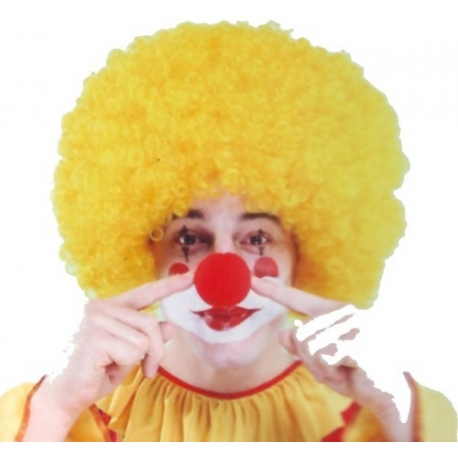 Perruque de clown super afro jaune