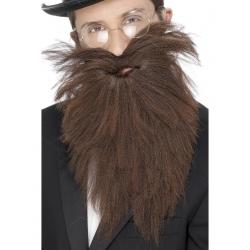 Longue barbe brune