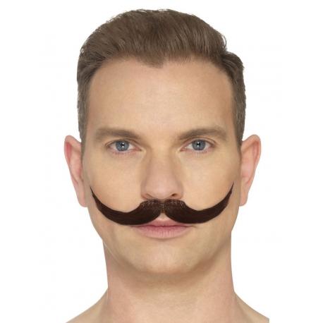 Moustache anglaise brune