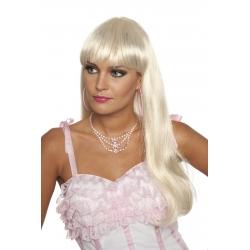 Perruque franche mi longue blonde