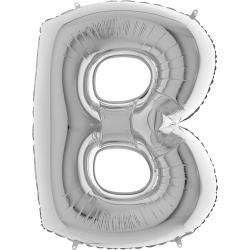 Lettre aluminium B 102 cm