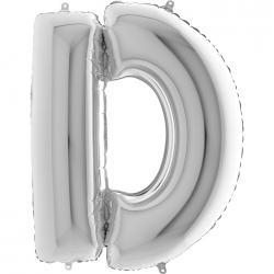 Lettre aluminium D 102 cm