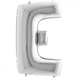 Lettre aluminium E 102 cm