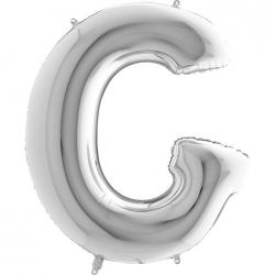 Lettre aluminium G 102 cm