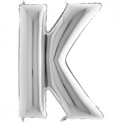 Lettre aluminium K 102 cm