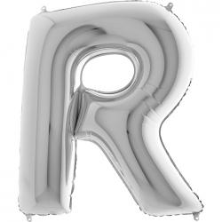 Lettre aluminium R 102 cm