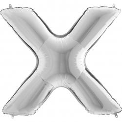 Lettre aluminium X 102 cm