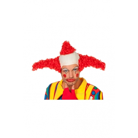 Clown perruque rouge