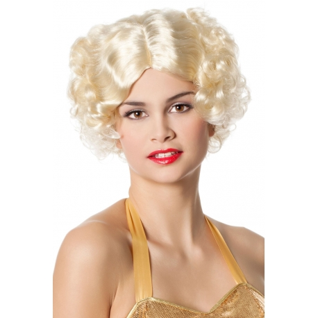 Perruque charleston blonde