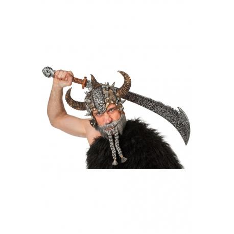 Barbe viking grise