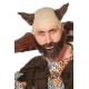Perruque et barbe viking brune