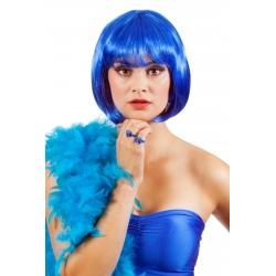 Perruque carré bleu