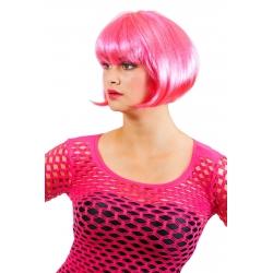 Perruque carré rose