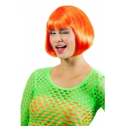 Perruque carré orange