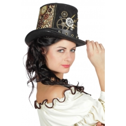 Chapeau buse steampunk luxe