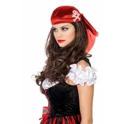 Chapeau pirate rouge