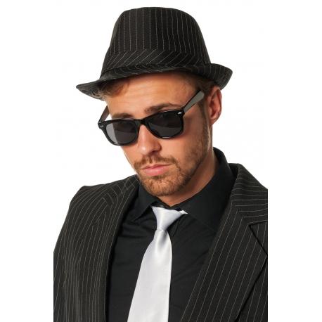 Chapeau gangster ligné