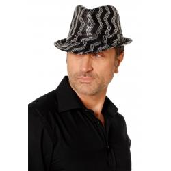 Gangster paillette noir-argent