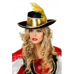 Chapeau mousquetaire doré