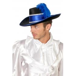 Chapeau mousquetaire bleu