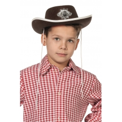 Chapeau cow boy enfant brun