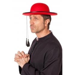 Chapeau curré rond rouge