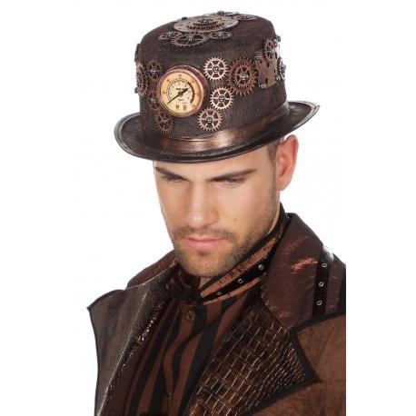 Chapeau steampunk bronze luxe