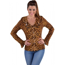 Chemisez disco léopard